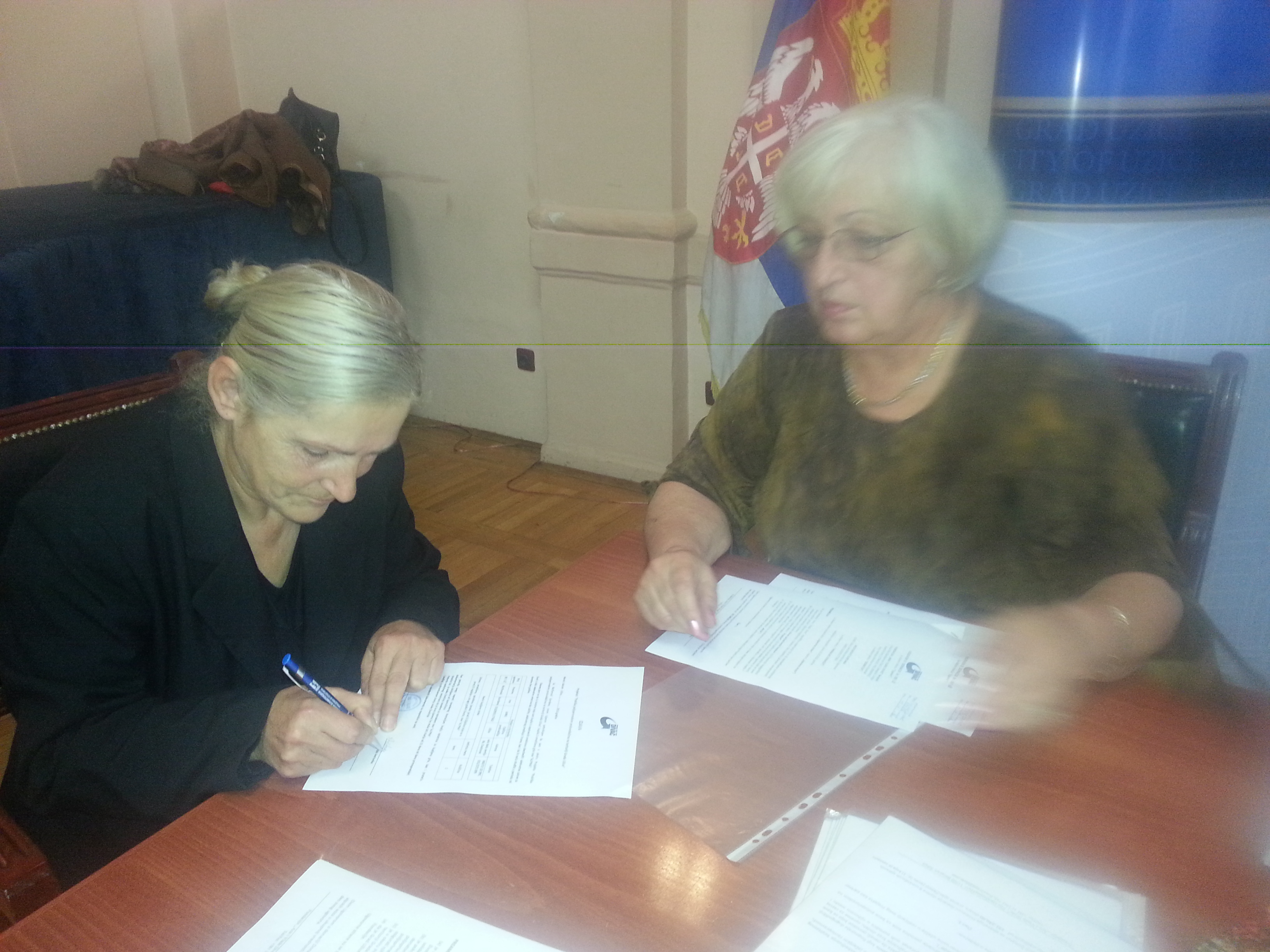 Today in Užice signed the contracts of the donations for purchase of the goats