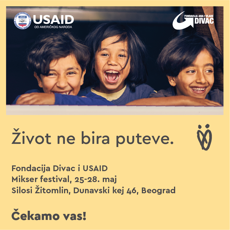Divac Foundation and USAID at Mikser Festival 25th-28th May