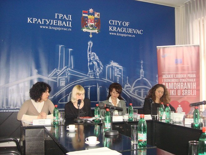 "Round table ""Single mothers and the labor market"" held in Kragujevac"