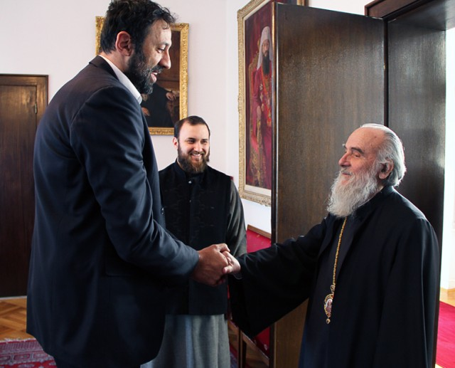 Serbian Patriarch meets Ana and Vlade Divac