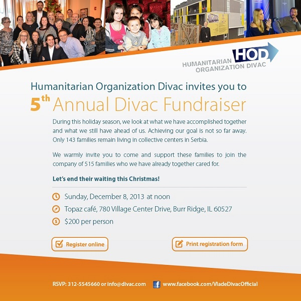 5th Annual Divac Fundraiser in Chicago
